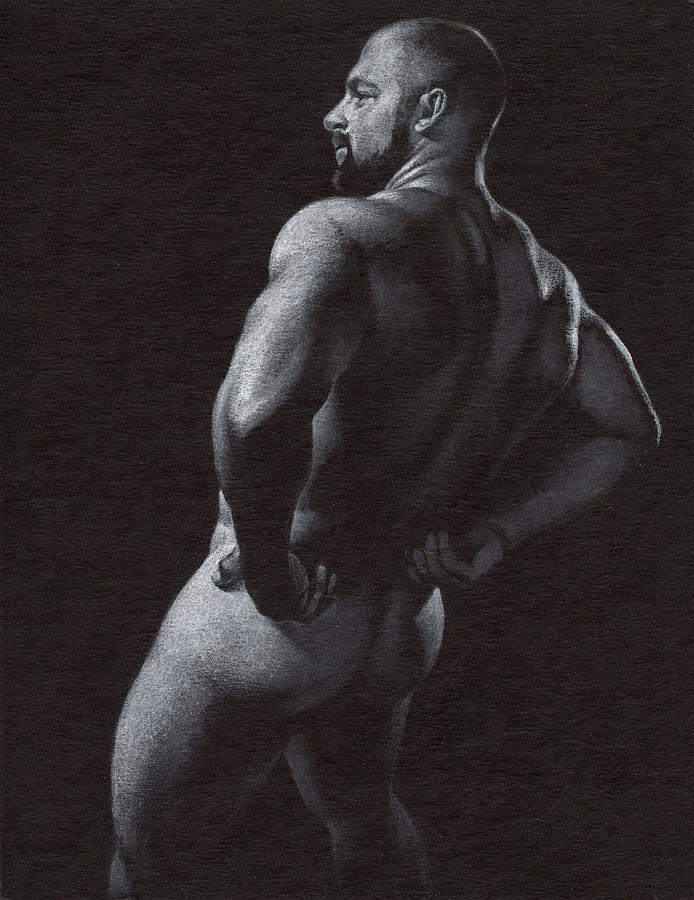 Male Drawing - Oscuro 4 by Chris Lopez