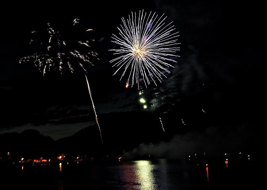 Fireworks Digital Art - Osoyoos Sky Art by Don Mann