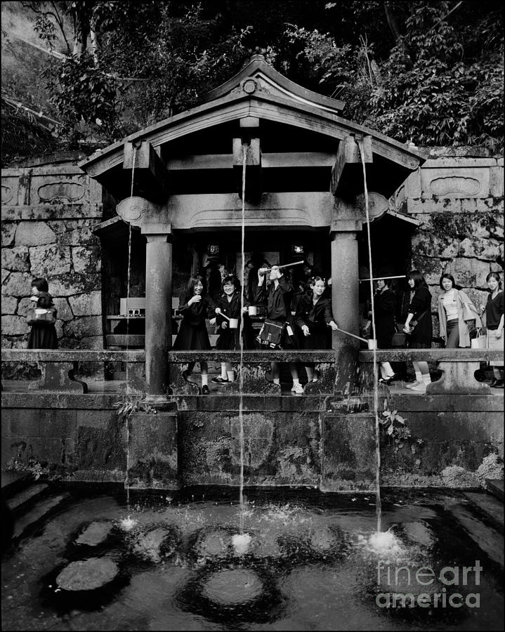 Kinkaku-ji Photograph - Otowa No Taki Spring Kyoto by Aldo Cervato