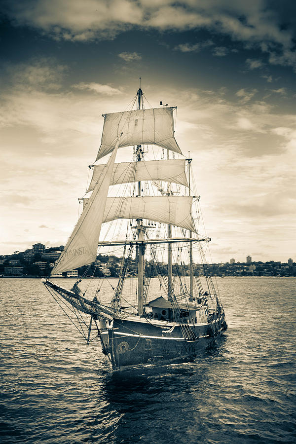Ship Photograph - Our Days Of Glory by Zarija Pavikevik