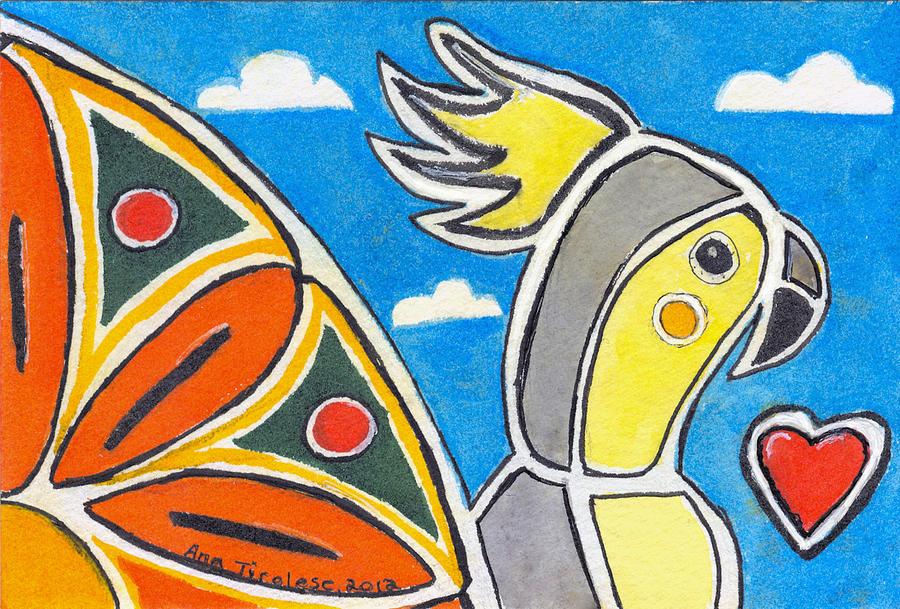 Our Heart Bird Oscar by Ana Tirolese