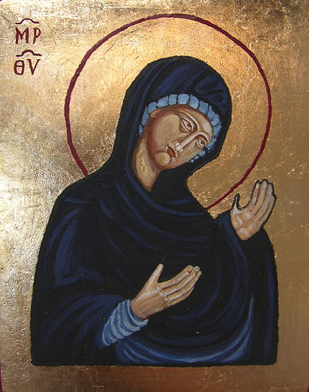 Icon Painting - Our Lady Deesis by Karolina Wicha