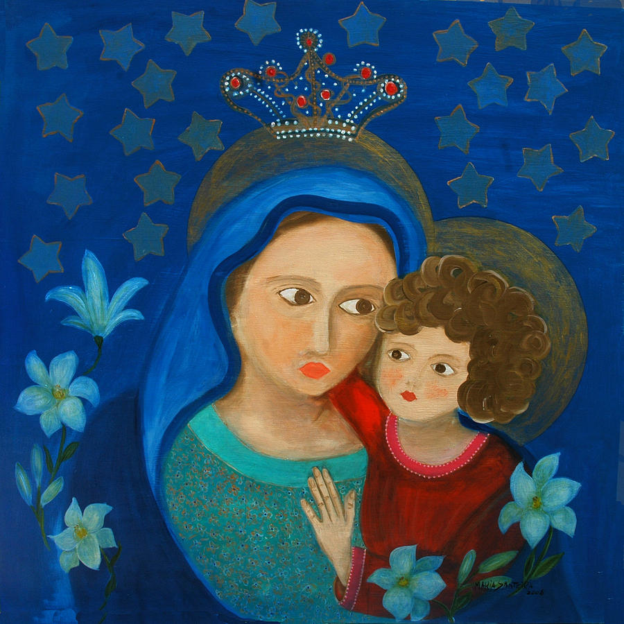 Our Lady Painting - Our Lady Of Good Counsel by Maria Matheus Maria Santeira