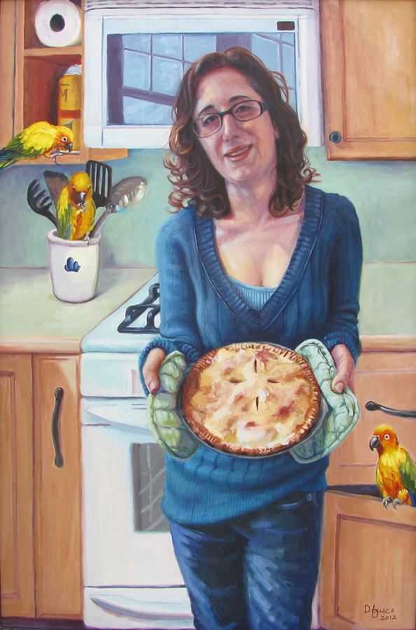 Young Woman Painting - Our Lady Of Pies by Dan Fusco