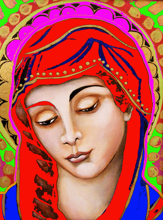 Our Lady Of Sorrows Painting - Our Lady Of Sorrows by Christina Miller