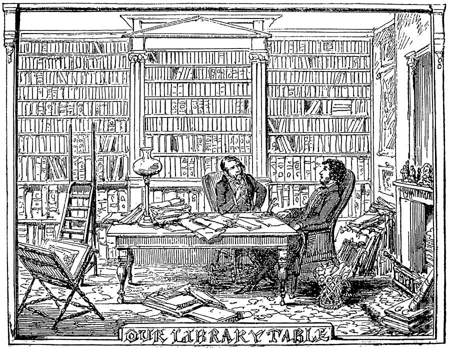 1842 Photograph - Our Library Table, 1842 by Granger