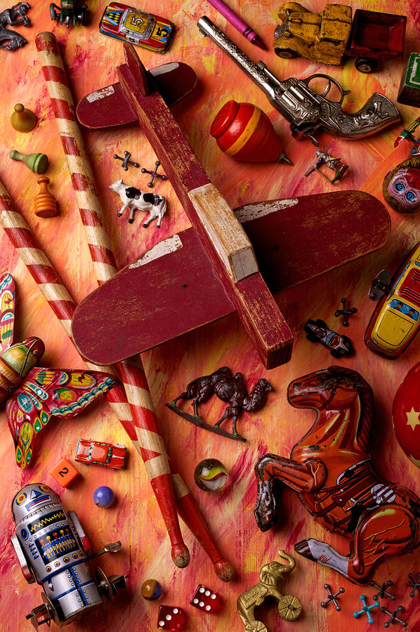 Toy Photograph - Our Old Toys by Garry Gay