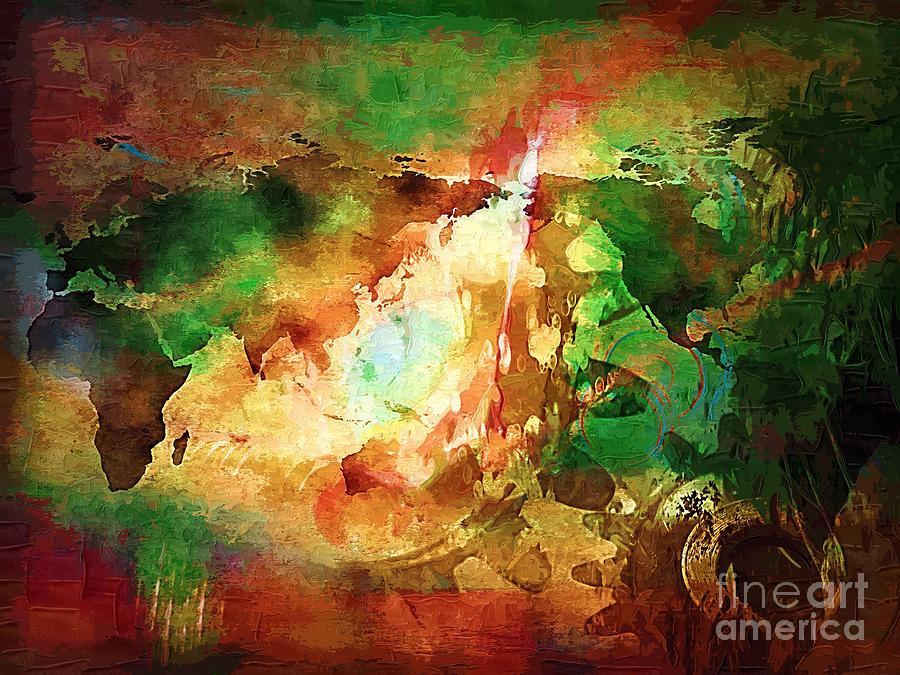 Earth Digital Art - Our Time. by Marek Lutek