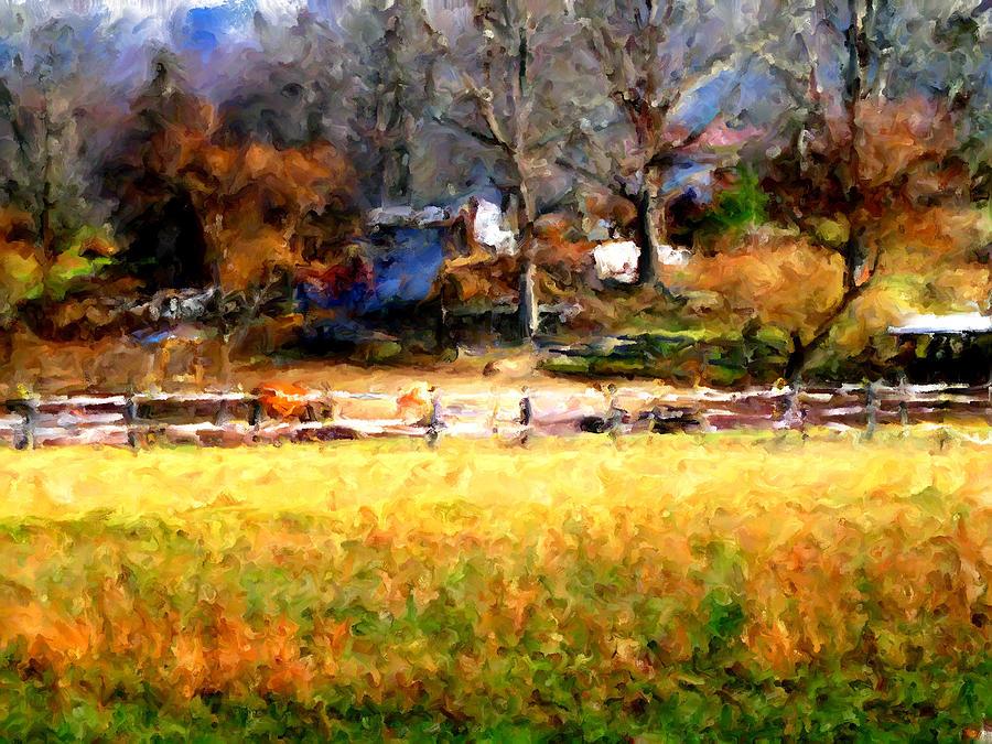 Farm Digital Art - Our View by Marilyn Sholin