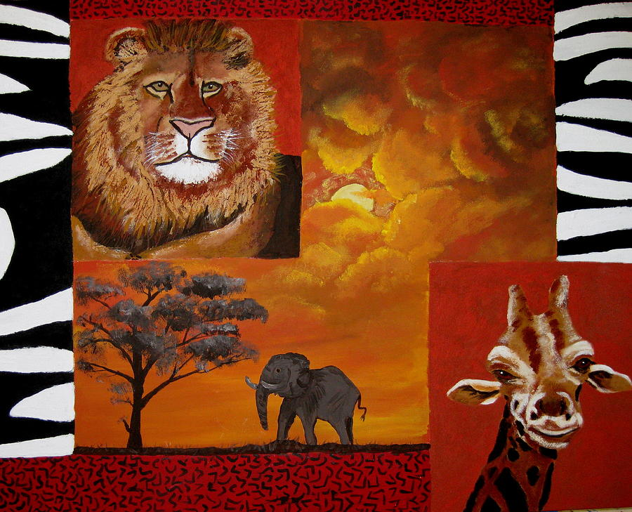 Mixed Media Painting - Out Of Africa by Susan McLean Gray