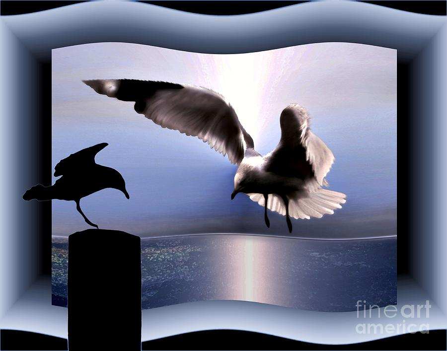 Seagulls Digital Art - Out Of Bounds by Dale   Ford