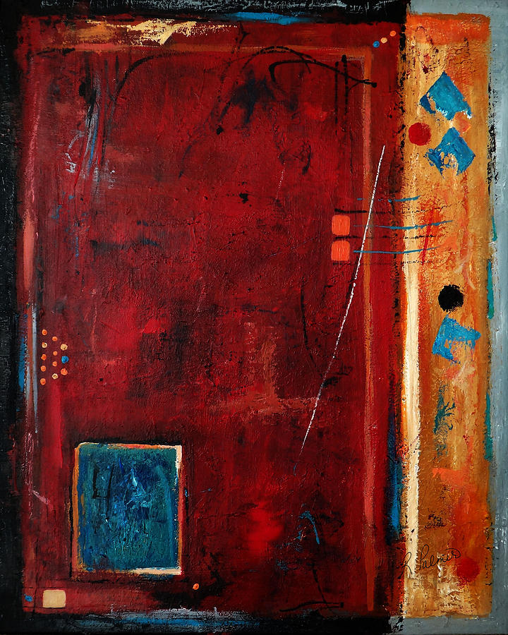 Abstract Painting - Out Of The Box by Ruth Palmer