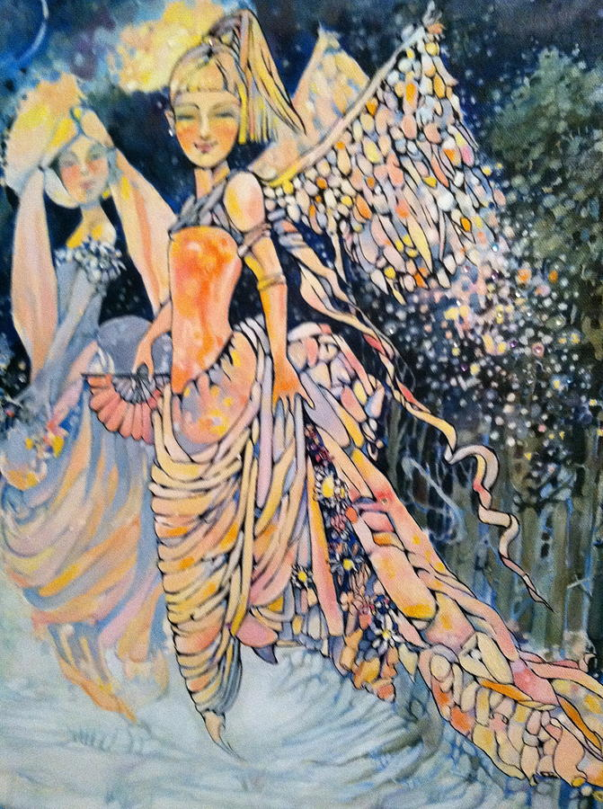 Angels Drawing - Out Of The Woods by Jackie Rock
