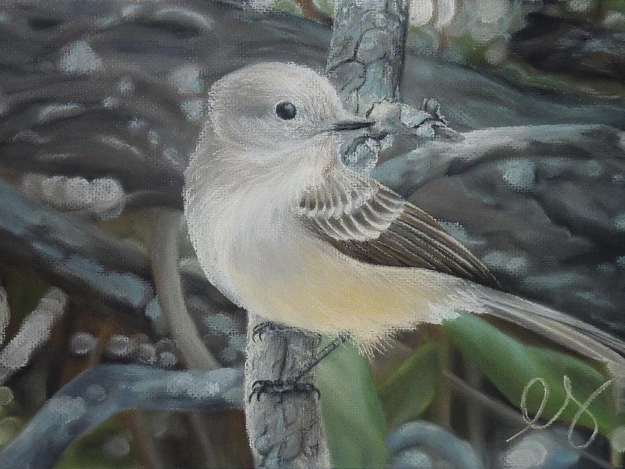 Birds Pastel - Out On A Limb by Estephy Sabin Figueroa
