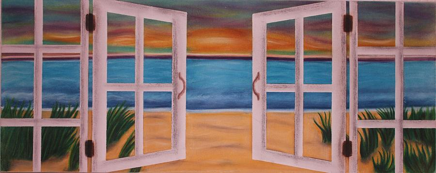 Beach Pastel - Out The Window by Kat Starr