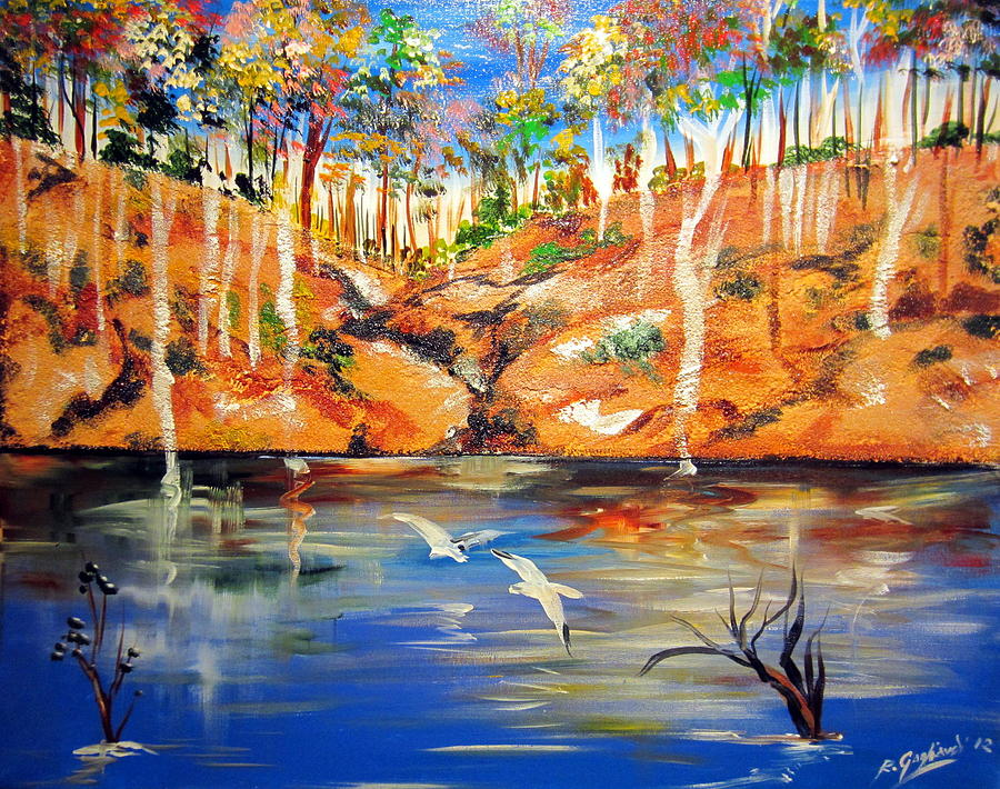 Outback Billabong My Way Painting By Roberto Gagliardi