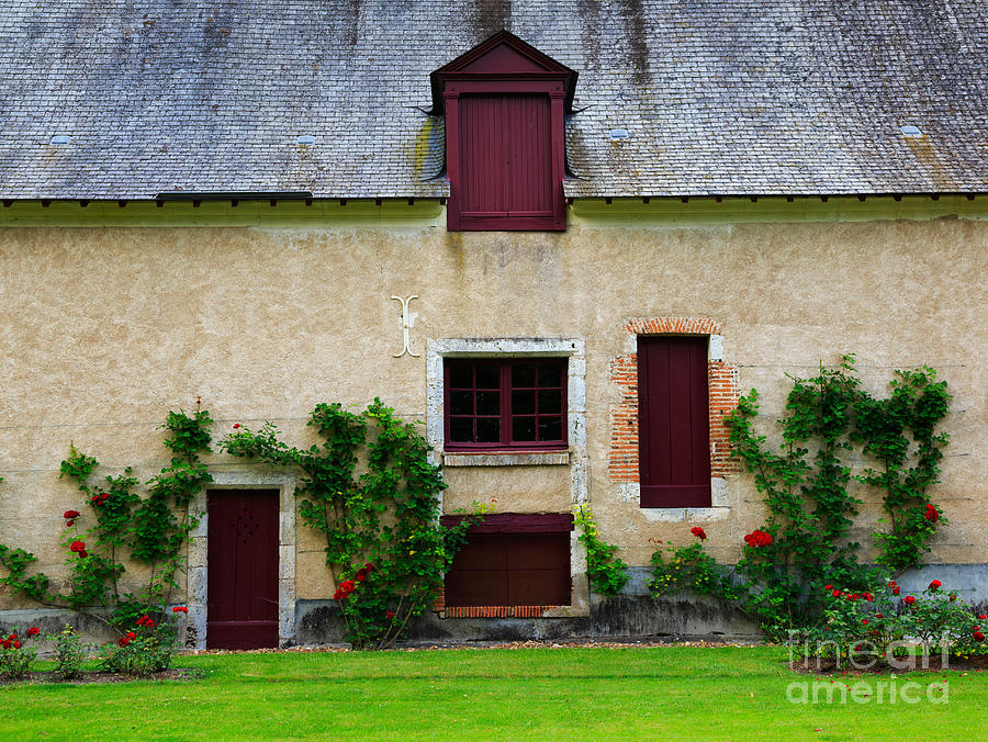 Farm Photograph - Outbuildings Of Chateau Cheverny by Louise Heusinkveld