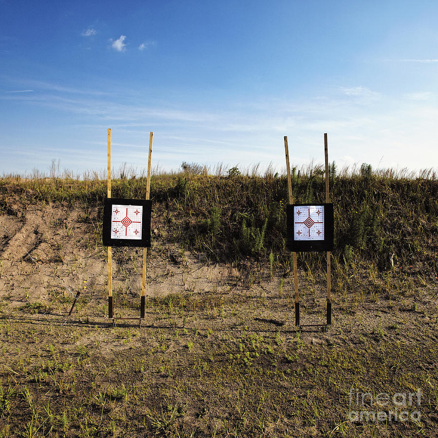 Blue Sky Photograph - Outdoor Targets by Skip Nall