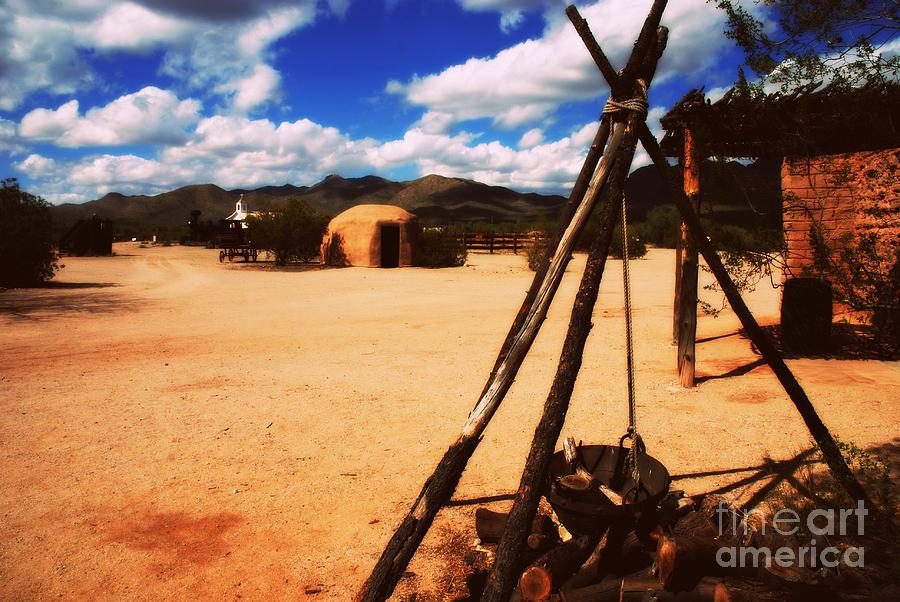 Village Photograph - Outdoor Village Movie Set by Susanne Van Hulst