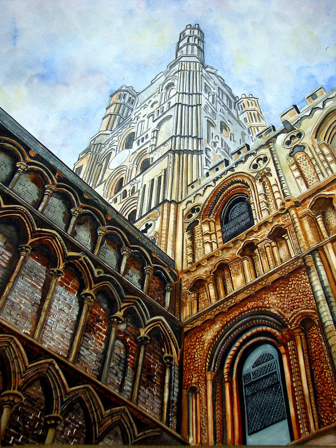 England Painting - Outside Ely Cathedral by Emmanuel Turner