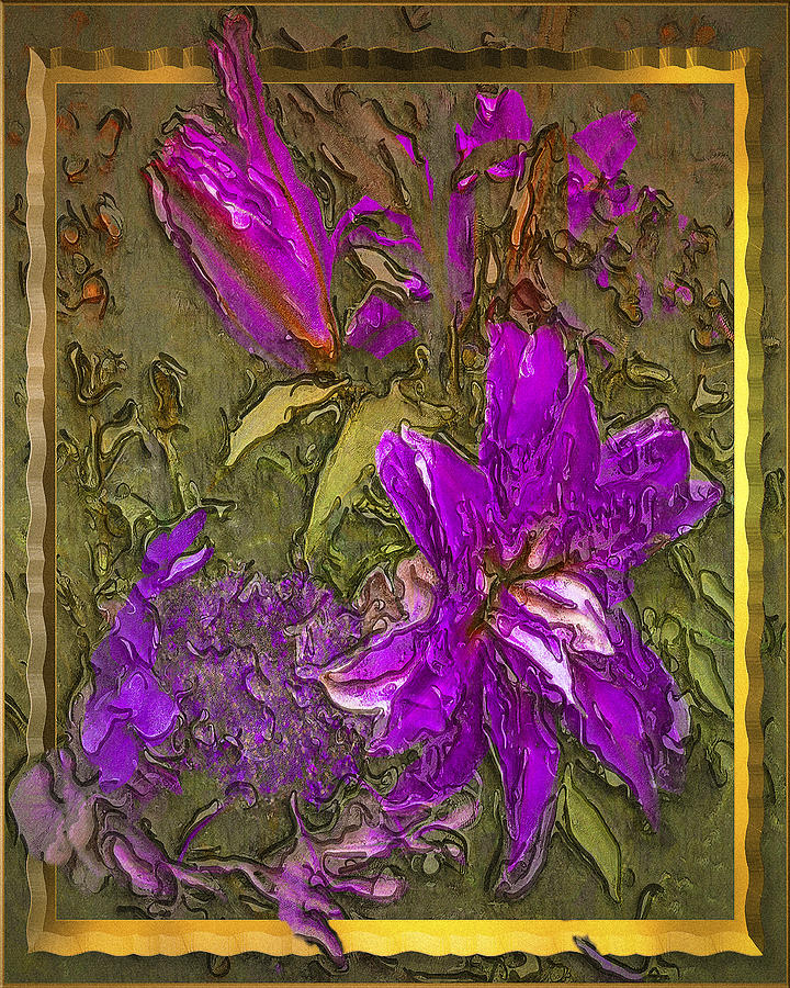 Digital Painting Digital Art - Outside The Frame by Jill Balsam