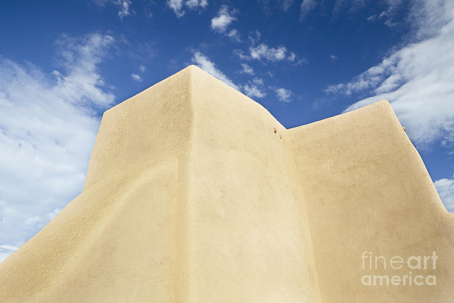 Adobe Photograph - Outside Wall Of The San Francisco De Asis Mission Church by Bryan Mullennix