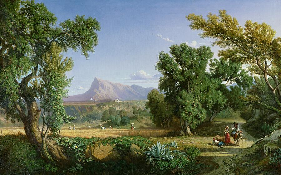 Majorca Painting - Outskirts Of Valdemusa by Adolphe Paul Emile Balfourier
