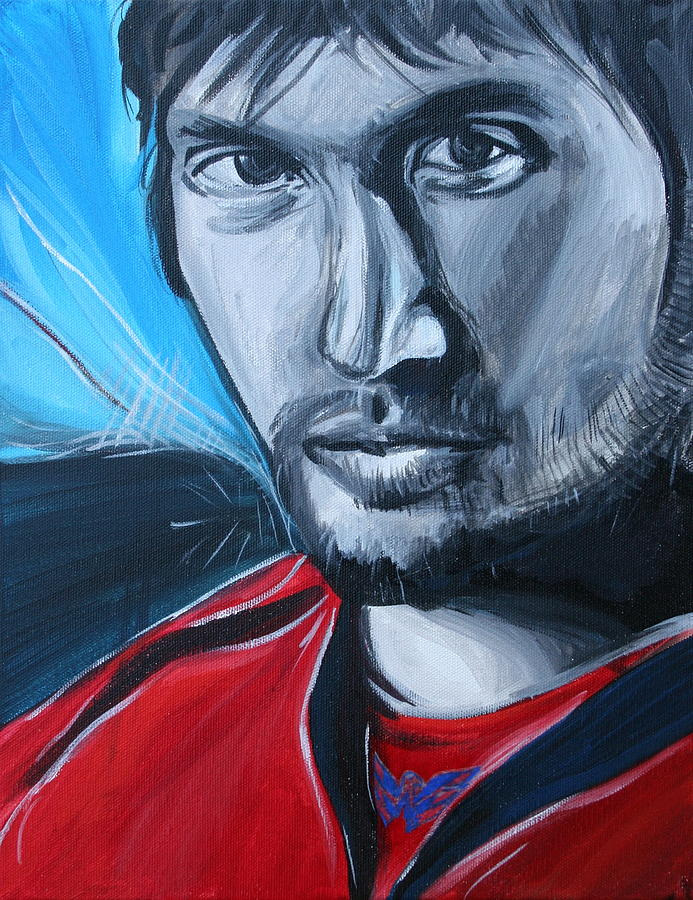 Alex Ovechkin Painting - Ovechkin by Kate Fortin