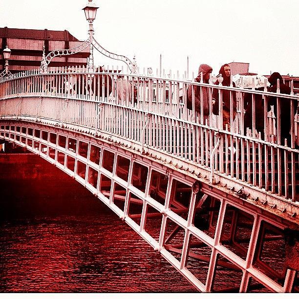 Dublin Photograph - Over The Bridge. #dublin by David Lynch