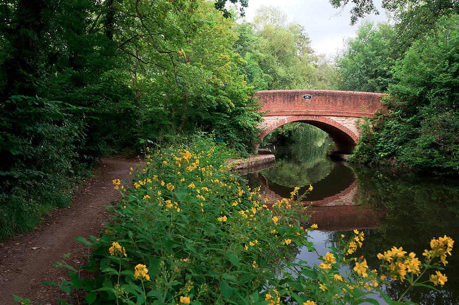 Canal Photograph - Over The Canal by Shirley Mitchell