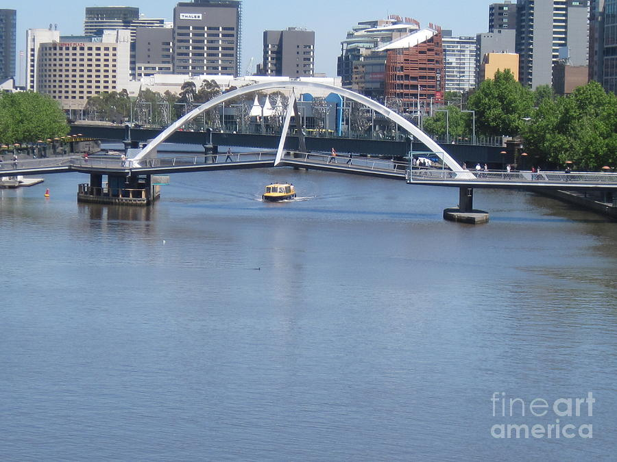 River Photograph - Over The Yarra by Donna Cavender