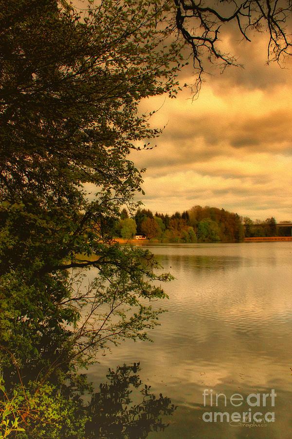 Photo Photograph - Overlooking The Lake by Jutta Maria Pusl