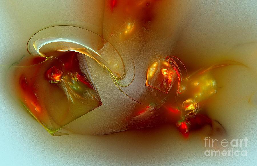 Fractal Digital Art - Overturned Vase by Klara Acel