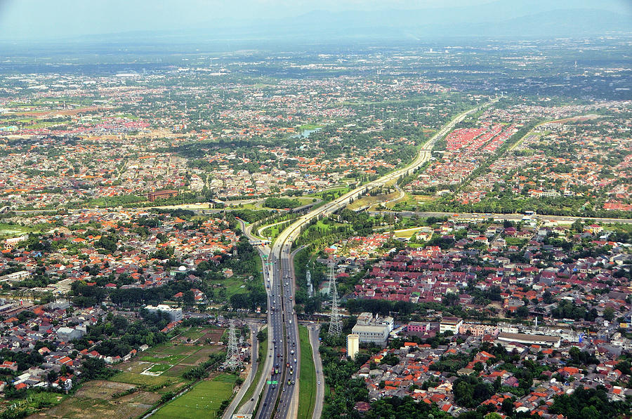 Horizontal Photograph - Overview Of Jakarta. by TeeJe