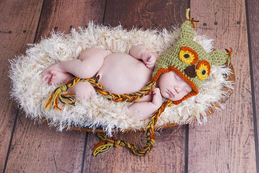 Newborn Photograph - Owl Be Sleeping by Cindy Lindow