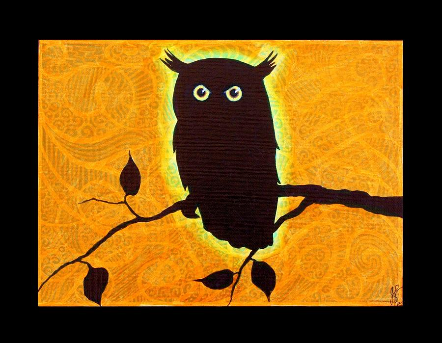 Owl Silhouette Jim Harris on Owl Carry Bags