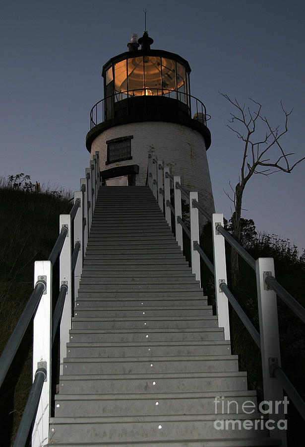 Paranormal Photograph - Owls Head Light by Brenda Giasson