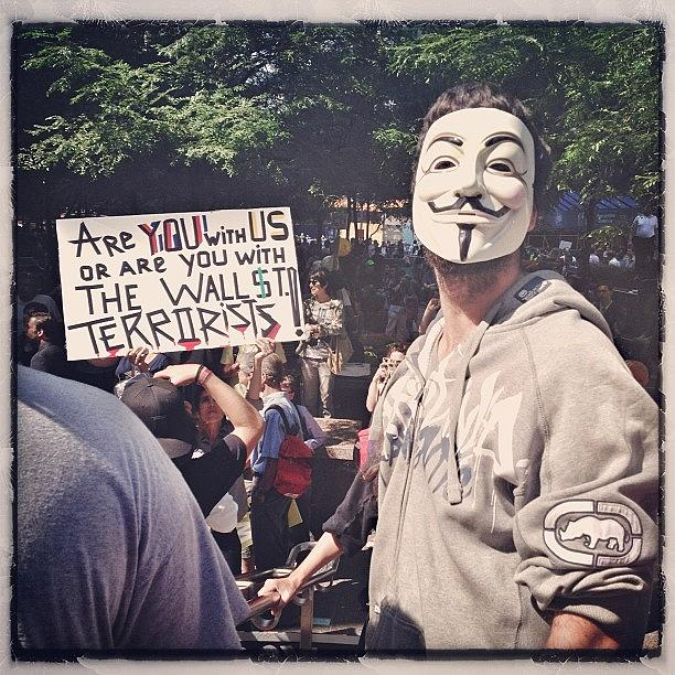 Summer Photograph - Ows Occupy Wall Street by Randy Lemoine