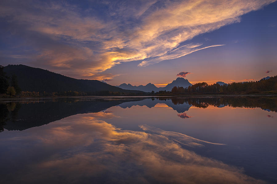 Grand Teton Photograph - Ox Bow Bend Sunset by Joseph Rossbach