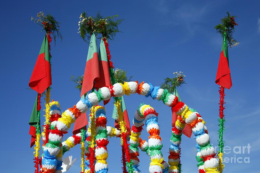 Festival Photograph - Oxen Cart Decorations by Gaspar Avila