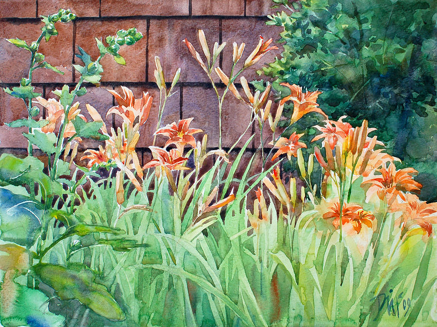 Oxenden Lilies Painting by Peter Sit