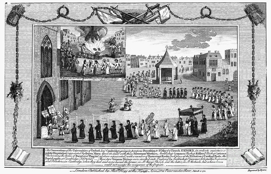 1555 Photograph - Oxford Martyrs, 1556 by Granger