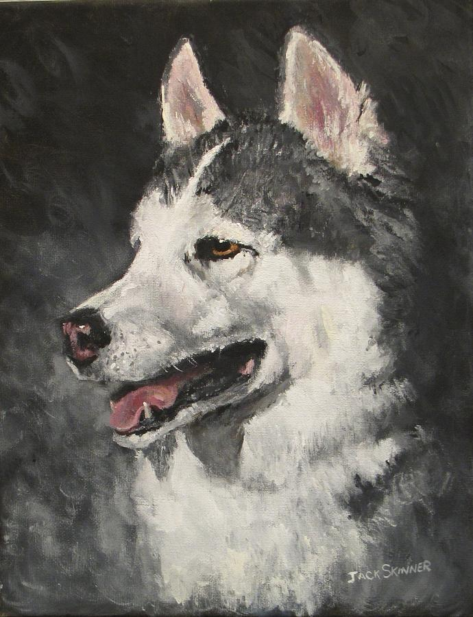 Dog Painting - Ozzie by Jack Skinner