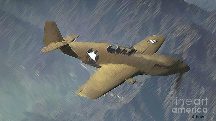 P 51 Mustang Photograph - P 51 Mustang On A Mission by George Pedro