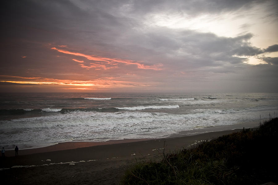 Seascape Photograph - Pacific Ocean Sunset by Richard Adams