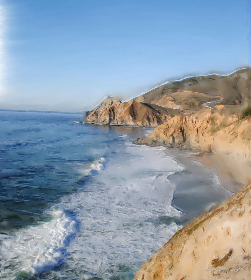 Oceans Painting - Pacifica by Wayne Bonney