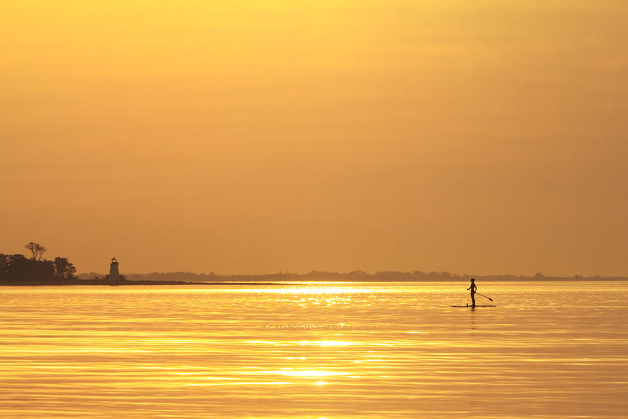 Paddleboard Photograph - Paddle Boarder At Dawn by Stephanie McDowell