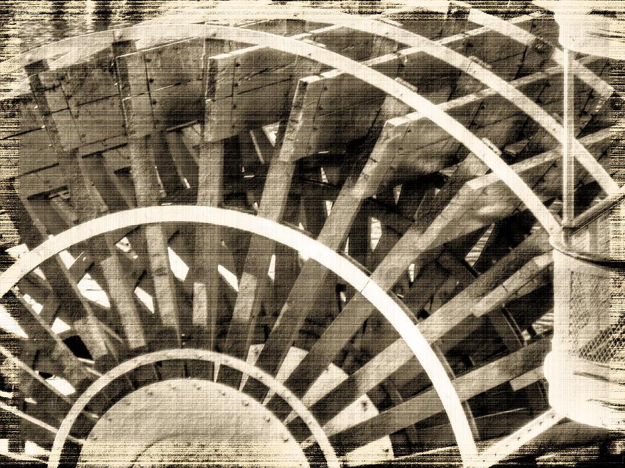 Paddle Wheel Photograph - Paddle Wheeler-vintage by Barry Jones
