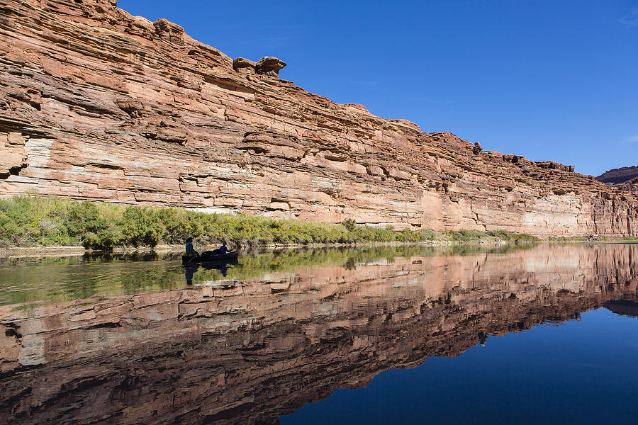 Arid Photograph - Paddling The Green River by Tim Grams
