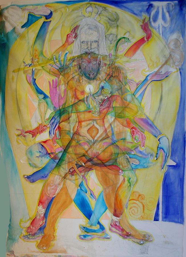 Padmasambhava Painting by Brian c Baker